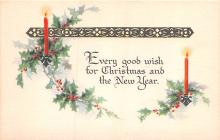 hol053179 - Christmas Postcard Old Vintage Antique Post Card