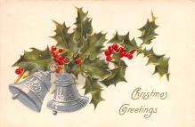 hol053183 - Christmas Postcard Old Vintage Antique Post Card