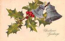 hol053185 - Christmas Postcard Old Vintage Antique Post Card
