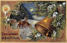 hol053193 - Christmas Postcard Old Vintage Antique Post Card