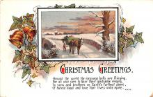 hol053195 - Christmas Postcard Old Vintage Antique Post Card