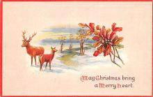 hol053197 - Christmas Postcard Old Vintage Antique Post Card