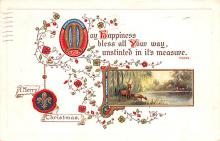 hol053199 - Christmas Postcard Old Vintage Antique Post Card