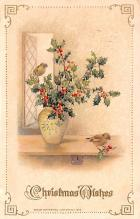 hol053201 - Christmas Postcard Old Vintage Antique Post Card