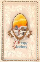 hol053205 - Christmas Postcard Old Vintage Antique Post Card