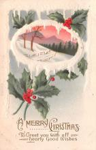 hol053207 - Christmas Postcard Old Vintage Antique Post Card
