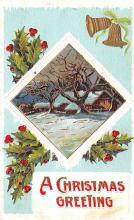 hol053209 - Christmas Postcard Old Vintage Antique Post Card