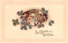 hol053211 - Christmas Postcard Old Vintage Antique Post Card