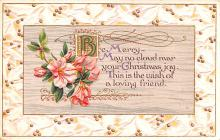 hol053215 - Christmas Postcard Old Vintage Antique Post Card
