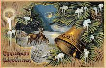 hol053223 - Christmas Postcard Old Vintage Antique Post Card