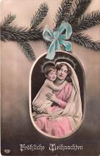 hol053225 - Christmas Postcard Old Vintage Antique Post Card