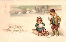 hol053231 - Christmas Postcard Old Vintage Antique Post Card