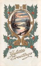 hol053239 - Christmas Postcard Old Vintage Antique Post Card