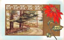 hol053241 - Christmas Postcard Old Vintage Antique Post Card