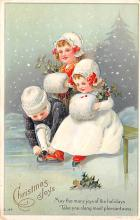 hol053243 - Christmas Postcard Old Vintage Antique Post Card
