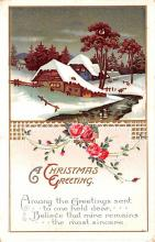 hol053245 - Christmas Postcard Old Vintage Antique Post Card