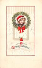 hol053249 - Christmas Postcard Old Vintage Antique Post Card