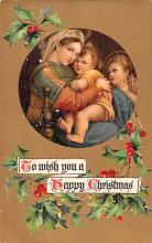hol053251 - Christmas Postcard Old Vintage Antique Post Card