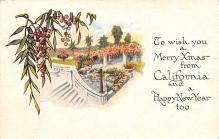 hol053253 - Christmas Postcard Old Vintage Antique Post Card