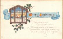 hol053255 - Christmas Postcard Old Vintage Antique Post Card