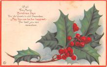 hol053257 - Christmas Postcard Old Vintage Antique Post Card