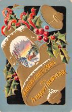 hol053269 - Christmas Postcard Old Vintage Antique Post Card