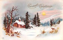hol053271 - Christmas Postcard Old Vintage Antique Post Card