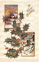 hol053273 - Christmas Postcard Old Vintage Antique Post Card