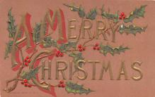 hol053285 - Christmas Postcard Old Vintage Antique Post Card