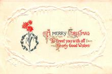 hol053289 - Christmas Postcard Old Vintage Antique Post Card