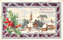 hol053291 - Christmas Postcard Old Vintage Antique Post Card