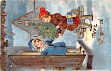 hol053299 - Christmas Postcard Old Vintage Antique Post Card