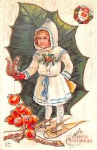 hol053301 - Christmas Postcard Old Vintage Antique Post Card