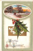 hol053303 - Christmas Postcard Old Vintage Antique Post Card