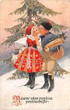 hol053305 - Christmas Postcard Old Vintage Antique Post Card