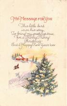hol053307 - Christmas Postcard Old Vintage Antique Post Card