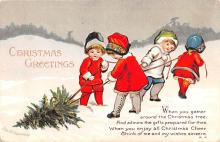 hol053311 - Christmas Postcard Old Vintage Antique Post Card