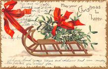 hol053315 - Christmas Postcard Old Vintage Antique Post Card