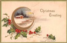 hol053321 - Christmas Postcard Old Vintage Antique Post Card