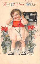 hol053323 - Christmas Postcard Old Vintage Antique Post Card