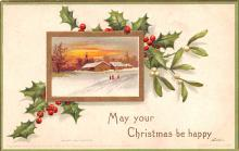 hol053339 - Christmas Postcard Old Vintage Antique Post Card