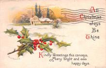 hol053343 - Christmas Postcard Old Vintage Antique Post Card