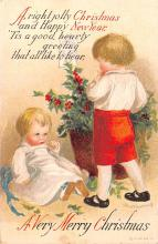 hol053345 - Christmas Postcard Old Vintage Antique Post Card