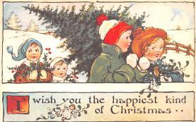 hol054001 - Christmas Postcard Old Vintage Antique Post Card