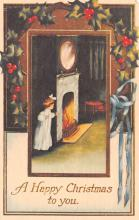 hol054007 - Christmas Postcard Old Vintage Antique Post Card