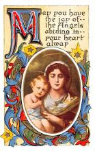 hol054015 - Christmas Postcard Old Vintage Antique Post Card
