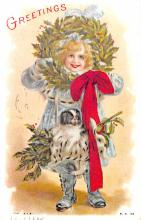 hol054019 - Christmas Postcard Old Vintage Antique Post Card
