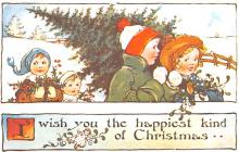 hol054023 - Christmas Postcard Old Vintage Antique Post Card