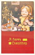 hol054027 - Christmas Postcard Old Vintage Antique Post Card