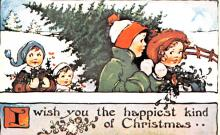 hol054029 - Christmas Postcard Old Vintage Antique Post Card